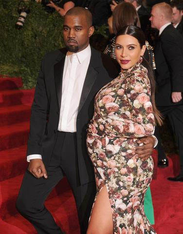 I don't care if she was wearing Givenchy. She looked like a '70s porn couch. Send her back to Goodwill. (With Kanye Pest.)