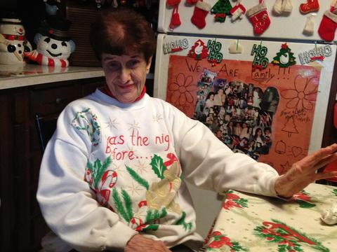 Rita Giancola at her Christmas House.