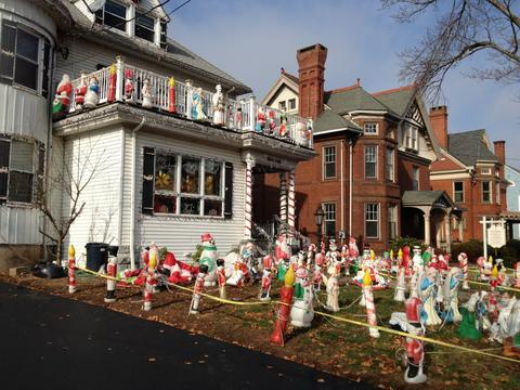 "Rita Giancola's New Britain home is once again transformed into ""Christmas House"" - a tradition that's been alive since 1978."