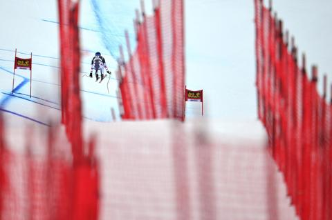 Max franz of Austria competes during the Audi FIS Alpine Ski World Cup Men's Downhill Training on December 18, 2013 in Val Gardena, Italy.