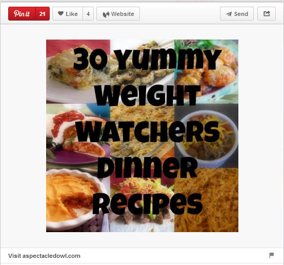 30 yummy Weight Watchers dinner recipes pinned by Aspectacledowl.com