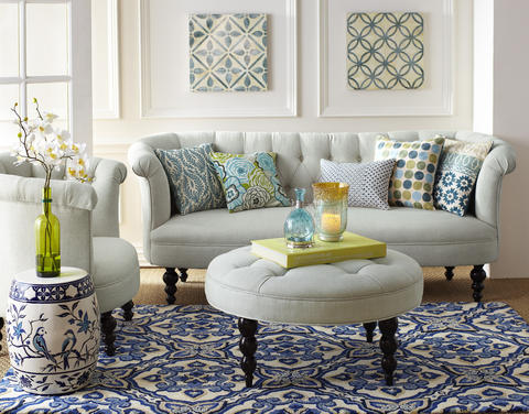 "From the popularity of the color blue to the use of coral in pillows and area rugs, coastal themes are expected to reign supreme in 2014. ""It used to be that they saved [coastal themes] for the beach,"" Jenkins says. ""But now it doesn't matter if they have waterfront homes or not. [Coastal themes] definitely helps them feel more calm and serene."""