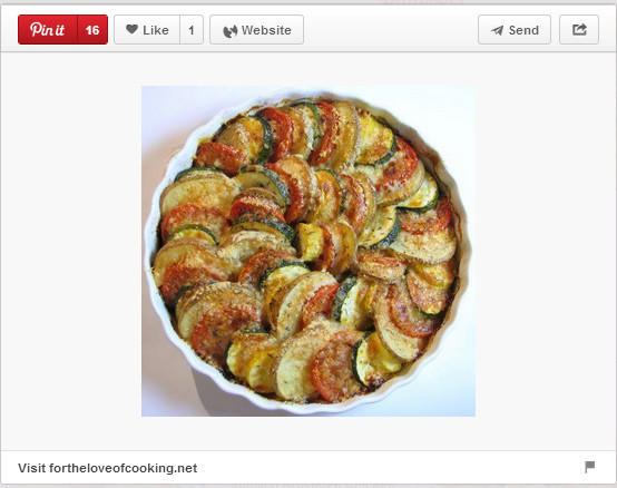 Vegetable tian pinned by Fortheloveofcooking.net.