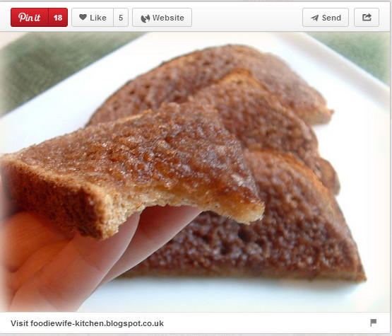 Cinnamon toast pinned by ThePioneerWay.co.uk.