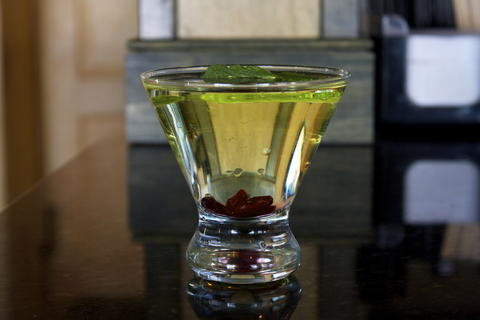 Price: $9  Ingredients: Absolut citron, lime juice, Cointreau, white cranberry juice  A light holiday cocktail, the red and green color alone will put you in the spirit.