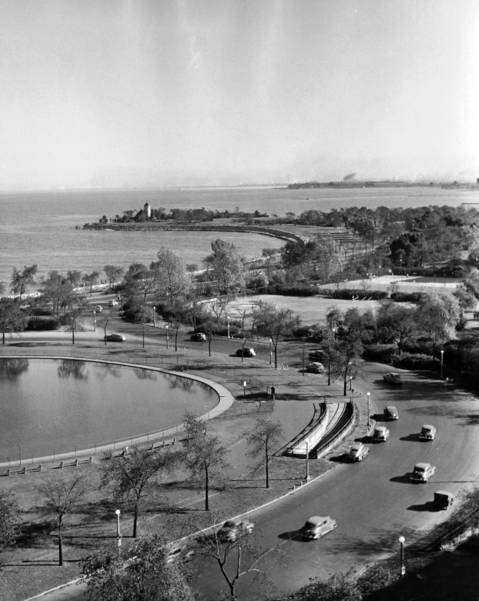 Lake Shore Drive, South from 51st Street on Oct. 19, 1947.