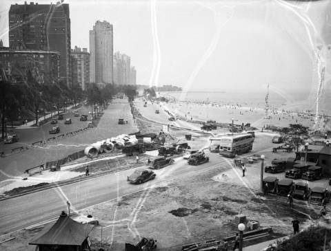 Vintage Lake Shore Drive Chicago Tribune