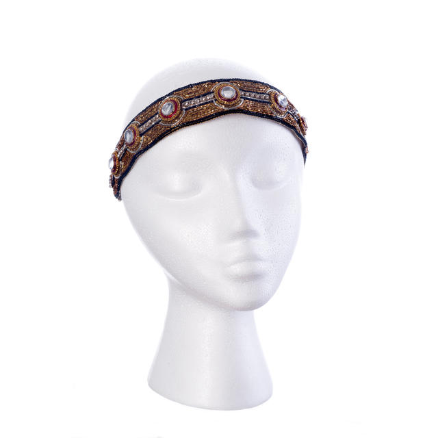 Dauphines of New York Baroque Splendor adjustable headband, $168, at shopdauphines.com.