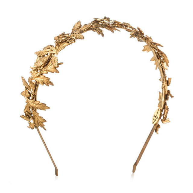 Eugenia Kim's Diana headband in gold, $290, available at forwardforward.com.