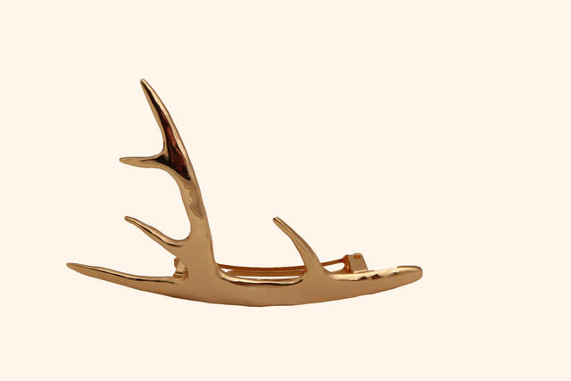 Pluie Co. antler barrette, $125, in gold, rose gold or silver-plated pewter available at pluiehair.com