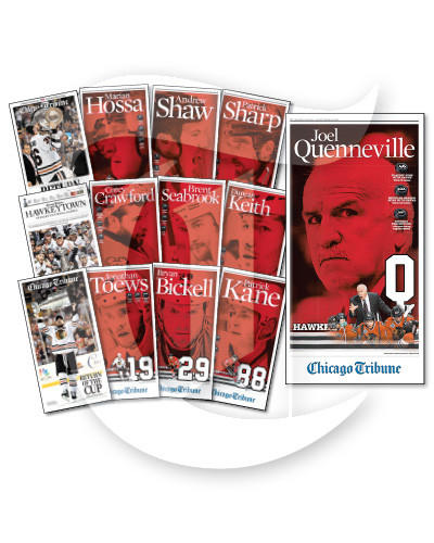 Magnetic personalities: Own a handsome collection of Blackhawks magnets. They're available at chicagosportscave.com