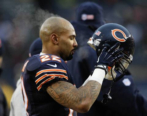 Chicago Bears running back Matt Forte during warmups at Soldier Field. The Chicago Bears take on the Green Bay Packers to claim the NFC North title.