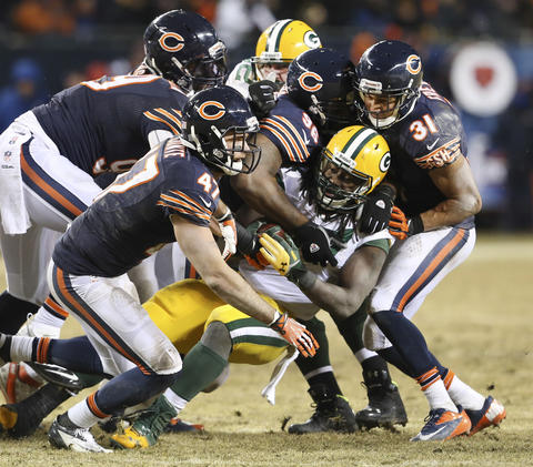 Packers running back Eddie Lacy during the second half.