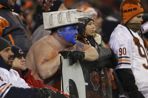 Bears fans during the final minutes of the loss.