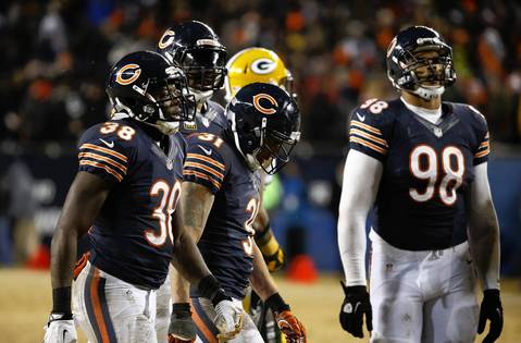 JOSE´ M. OSORIO: Seeing the body language on the Chicago Bears players following Green Bay Packers wide receiver Randall Cobb (18) game winning touchdown in the fourth quarter at Soldier Field.