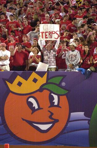 Maryland fans root on their team.