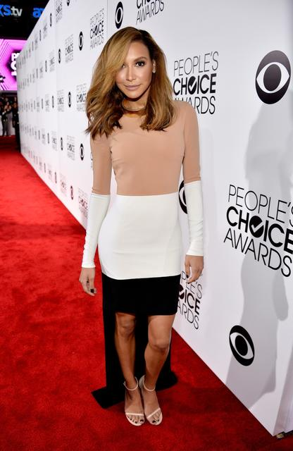 """Glee"" actress Naya Rivera wears a dress by Michael Kors."