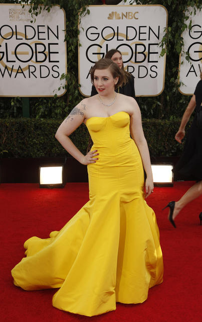"""Girls"" actress Lena Dunham."