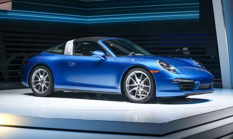 The Porsche 911 Targa is introduced at the 2014 North American International Auto Show in Detroit, Michigan, January 13, 2014.
