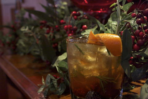 Price: $9.50  Ingredients: Makers Mark bourbon, Grand Marnier, fig puree, muddled orange peel, club soda, rosemary  The fig puree is made fresh in-house with black mission figs. This drink balances sweetness and bourbon, and mixologists describe it as perfect for both men and women.
