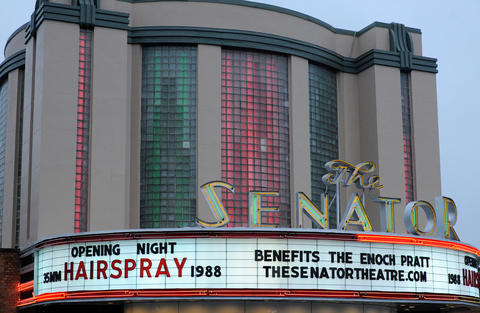 "John Waters' ""Hairspray"" is shown at the grand reopening of the Senator Theatre."