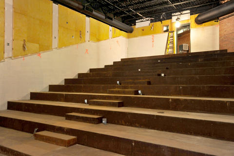 Renovations continue at the Senator Theatre; pictured is a screening room.