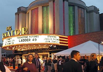 "The premiere of ""Ladder 49,"" filmed in Baltimore, draws its stars and the crowds to The Senator Theatre."