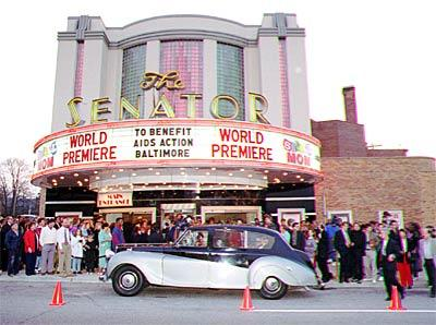 The Senator Theatre shows blockbusters and classic revivals and hosts area premieres.