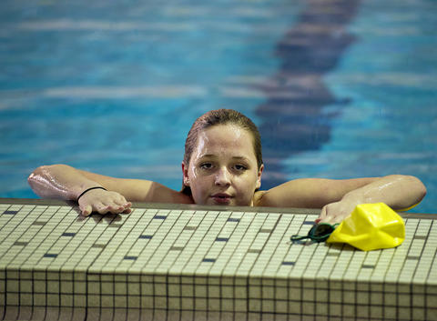 Emmaus' Shanna Carwell after winning the 200 Yard IM against Central Catholic in their Lehigh Valley Conference High School swimming meet at Emmaus on Thursday.
