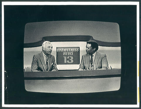 Among TV anchormen, none were more revered locally than this team, a fixture on WJZ, Channel 13, from 1977 to 1987. Turner (left) came first, starting at the station in 1962; Sanders arrived a decade later. Turner died in 1987, Sanders in 1995. Local news has not been the same since.