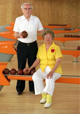 """Legend has it that duckpin bowling -- smaller balls, smaller pins -- originated in Baltimore, at lanes run by the legendary John McGraw (of Orioles and, later, New York Giants fame). But here are a couple facts: Baltimore remains one of the few places you can bowl duckpins, and nobody was better at it than the legendary Elizabeth """"Toots"""" Barger (pictured, right, with duckpin champ Cliff Kidd Sr.) , the Hamilton native who 12 times won the prestigious Evening Sun tournament."""