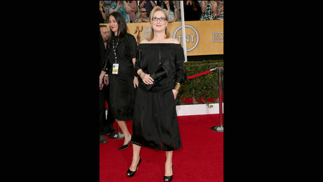 Meryl Streep's sack-like Stella McCartney dress didn't do much for her.