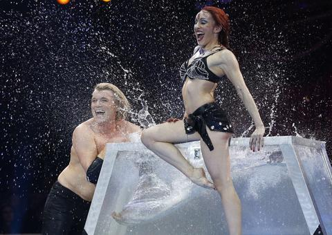 Hans Klok performs during the 38th Monte-Carlo International Circus Festival in Monaco on January 16, 2014.