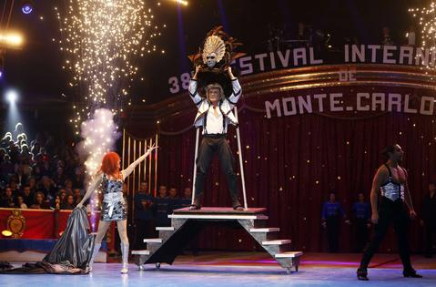 Dutch illusionist Hans Klok performs during the 38th Monte-Carlo International Circus Festival in Monaco on January 16, 2014.