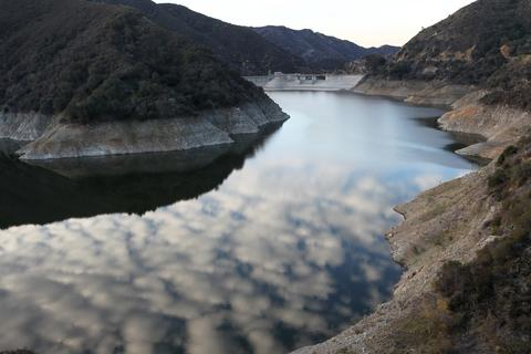 Rocky shores are exposed by the low waters of Morris Reservoir on the San Gabriel River in the Angeles National Forest on January 22, 2014 in near Azusa, California. Now in its third straight year of drought conditions, California is experiencing its driest year on record, dating back 119 years, and reservoirs throughout the state have low water levels. Unseasonable dangerous wildfire weather helped spread the nearby 1,952-acre Colby Fire which firefighters are about to contain but not before it destroyed five homes, damaged 17 others and injured six people. Gov. Jerry Brown officially declared a drought emergency on Friday to speed up assistance to local governments, streamline water transfers and potentially ease environmental protection requirements for dam releases.