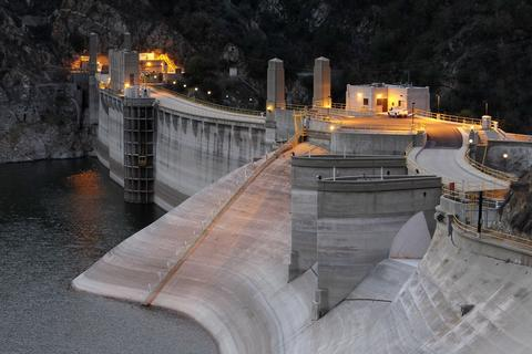 The low water level of Morris Reservoir is seen on the backside of Morris Dam before dawn on the San Gabriel River in the Angeles National Forest on January 22, 2014 in near Azusa, California. Now in its third straight year of drought conditions, California is experiencing its driest year on record, dating back 119 years, and reservoirs throughout the state have low water levels. Unseasonable dangerous wildfire weather helped spread the nearby 1,952-acre Colby Fire which firefighters are about to contain but not before it destroyed five homes, damaged 17 others and injured six people. Gov. Jerry Brown officially declared a drought emergency on Friday to speed up assistance to local governments, streamline water transfers and potentially ease environmental protection requirements for dam releases.