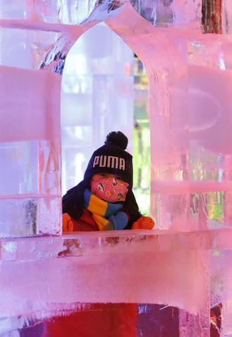 "A girl visiting ""Fantasy Ice World"" on January 23, 2014 in Taipei, Taiwan."