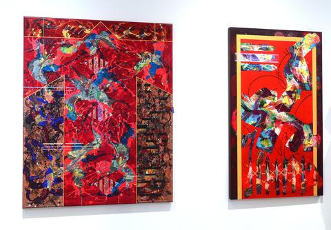 Artwork by artist Paul Harryn is hung at the Allentown Art Museum.