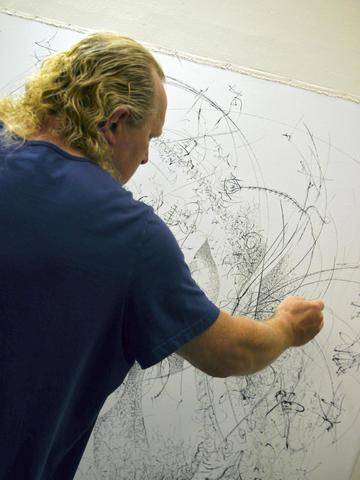 Paul Harryn at work.