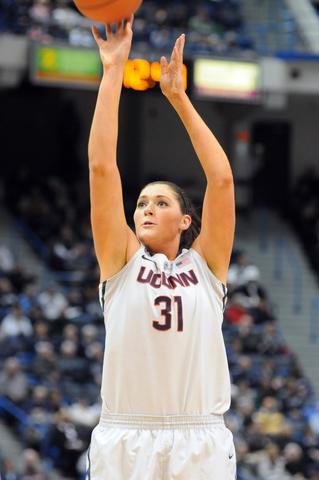 Stefanie Dolson takes a foul shot.