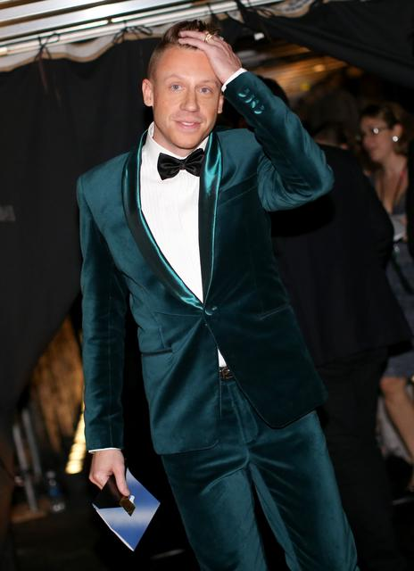 Lots of guys wore vivid color on the red carpet, but Macklemore's plush teal velvet tuxedo was one of the best looks of the night. A thrift store find, perhaps? If so, we'll take it.