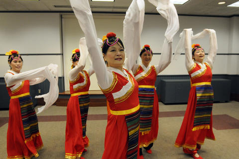 The Asian Performing Arts group rehearsed for their performance at the Enfield Heritage Fair at the Welles Turner Glastonbury Memorial Library in Glastonbury Wednesday Jan. 29.