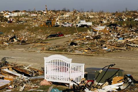 Tornado damage in Washington.