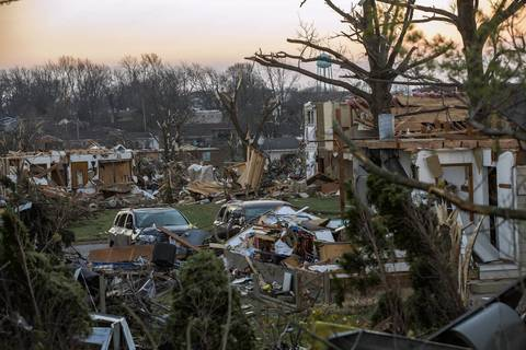 Washington, Ill., sits in ruins the morning after a severe tornado tore through the community.