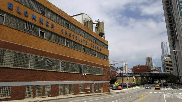The Blommer chocolate factory on Kinzie Street in Chicago.