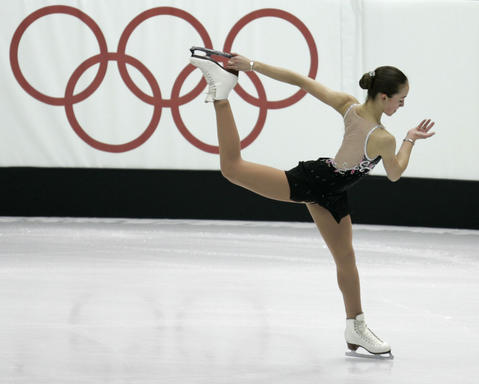 Kimmie Meissner was the second skater to perform on the opening night of women's figure skating at the 2006 Games.