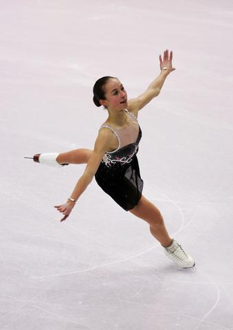 Kimmie Meissner skates during the women's short program.