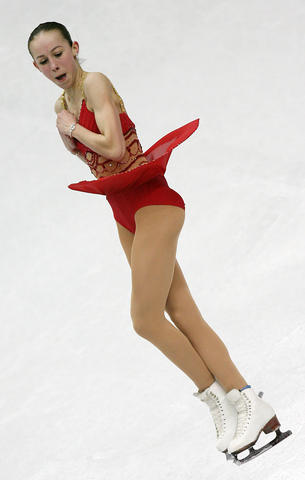 Kimmie Meissner performs in the ladies free skating program.