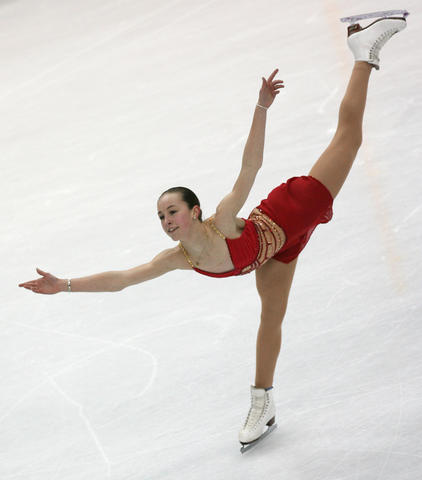 Kimmie Meissner performs during the women's free skating program.