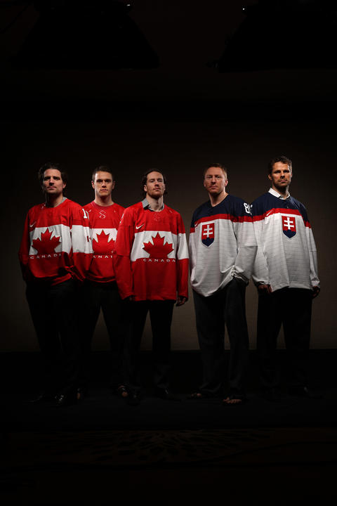 Olympian Blackhawks from Canada and Slovakia.
